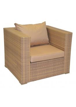 Кресло Квадро меланж с подушками стандарт