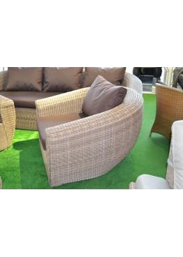 Комплект для отдыха Лаунж меланж с подушками люкс
