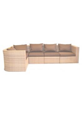 Диван угловой модульный Фелисити меланж с подушками стандарт