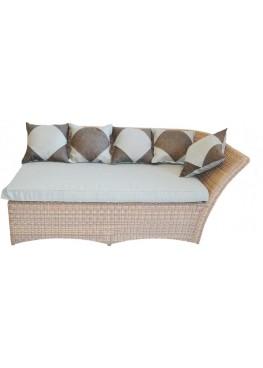 Левый угловой модульный элемент Рондини меланж с подушками люкс