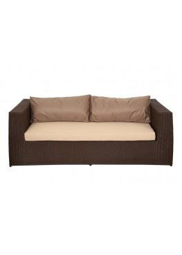 Диван Меланж шоколад с подушками стандарт