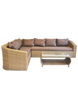 Комплект угловой модульный Ареджа бронза с подушками стандарт