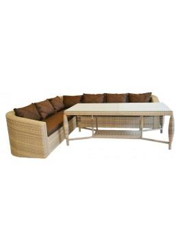 Комплект угловой модульный Ареджа меланж с подушками стандарт