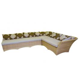 Диван угловой модульный Рондини с подушками стандарт