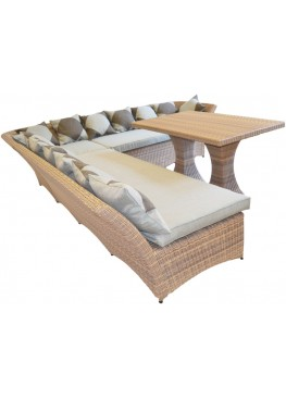 Диван угловой модульный Рондини меланж с подушками стандарт