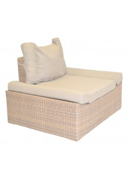 Кресло Эмпорио меланж с подушками люкс