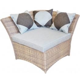 Угловой элемент универсальный Рондини меланж с подушками люкс
