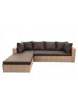 Диван угловой модульный Крис меланж с подушками стандарт
