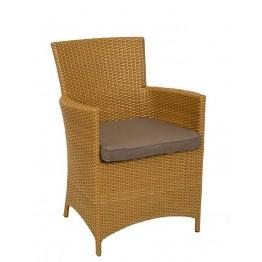 Кресло Беллини латунь с подушкой стандарт