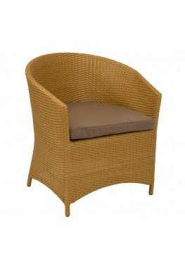 Кресло Брауни латунь с подушкой стандарт