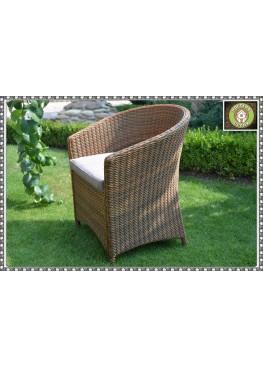 Кресло Брауни люкс бронза с подушками сатандарт