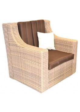 Кресло Люкс меланж с подушками люкс