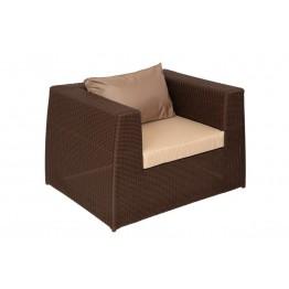 Кресло Меланж шоколад с подушками стандарт