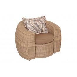 Кресло Санни меланж с подушками Люкс