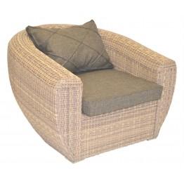 Кресло Лаунж меланж с подушками люкс