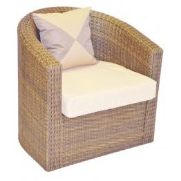 Кресло Ареджа мини бронза с подушками стандарт