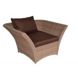 Кресло Рондини меланж с подушками стандарт
