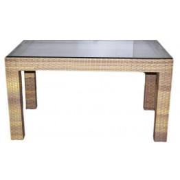Стол Комфорт меланж 130 с каленым стеклом
